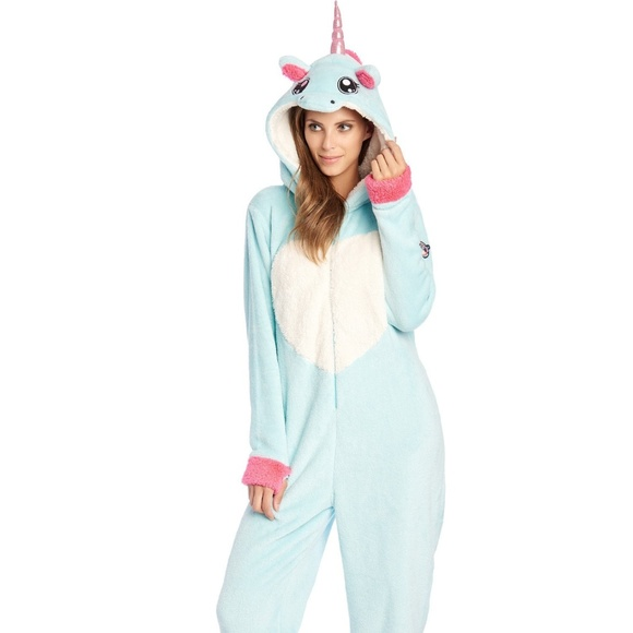 NWT BeGummy Soft Unicorn Onesie Adult Small 2c49d020c8fc